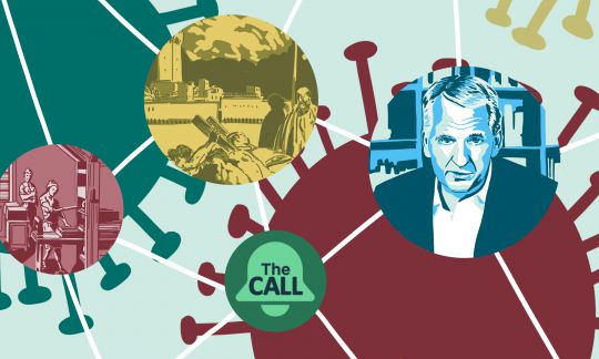 The Call with Timothy Snyder, Illustration Norma Nardi,